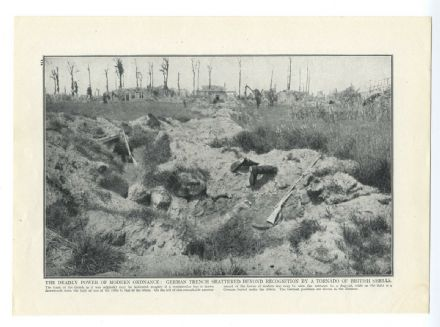 1915 WW1 Print ST OMER RAILWAY STATION Royal Engineers BOMBED GERMAN TRENCH (173